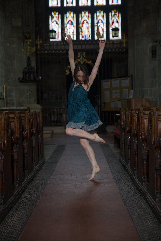 Giada dancing in the Church nave