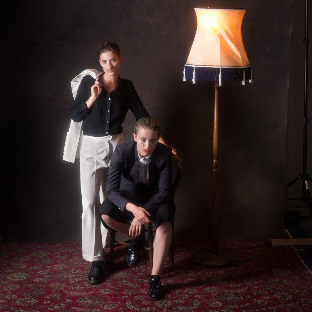 Danni Spooner & Carise ZM looking straight at camera